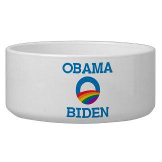 Obama Biden Pride Dog Bowls