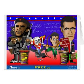 Obama Biden Romney Ryan Card