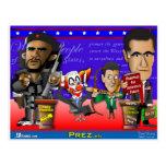 Obama Biden Romney Ryan Post Card