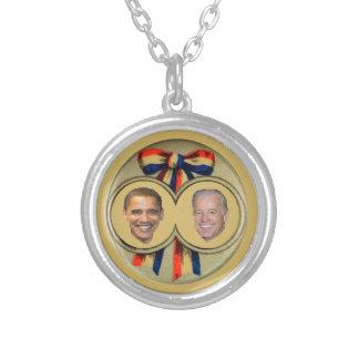 Obama Biden Round Pendant Necklace
