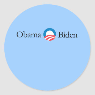 Obama Biden Round Sticker