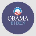 Obama Biden Round Stickers