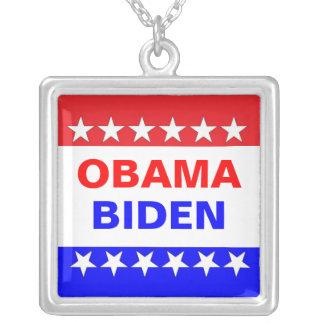 Obama-Biden Square Pendant Necklace