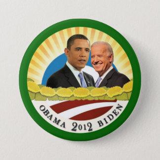 Obama & Biden Sunshine Pinback Button