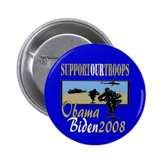 Obama Biden Support Our Troops Button