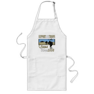 Obama Biden Support Our Troops Long Apron