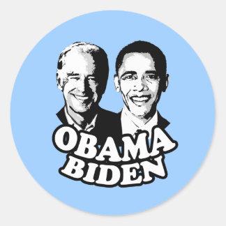 Obama Biden T-shirt Round Stickers
