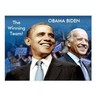 Obama Biden Tarjeta Postal