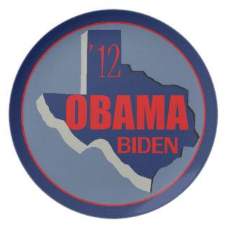 Obama Biden TEXAS Melamine Plate