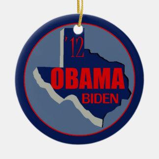 Obama Biden TEXAS Double-Sided Ceramic Round Christmas Ornament
