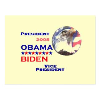 Obama Biden Ticket Postcard