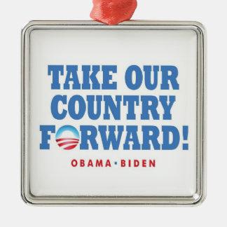 Obama-Biden TOCF - Ornamento Adorno De Navidad