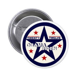 Obama/Biden veinte doce Pin Redondo De 2 Pulgadas