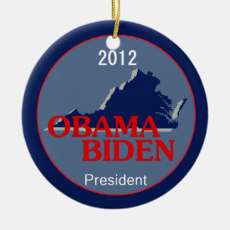 Obama Biden VIRGINIA Ceramic Ornament