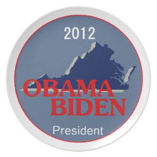 Obama Biden VIRGINIA Platos De Comidas