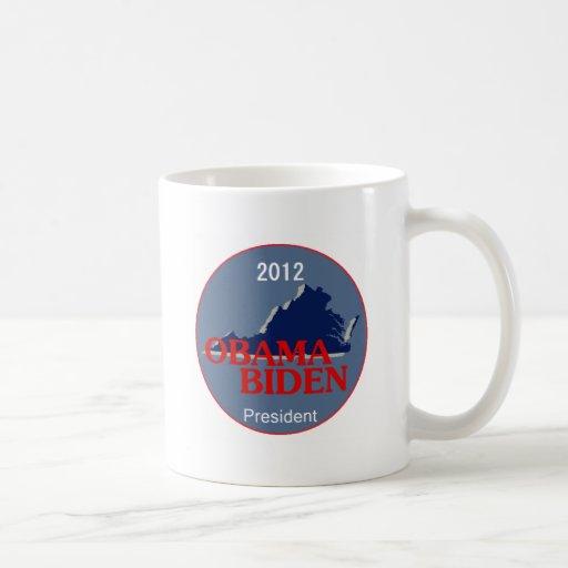 Obama Biden VIRGINIA Taza De Café