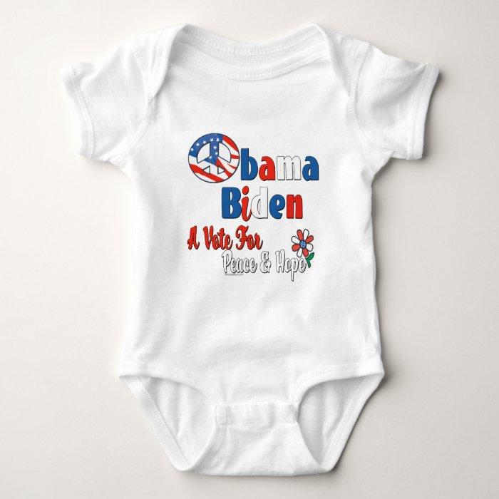 Obama Biden Vote for Peace and Love Baby Bodysuit