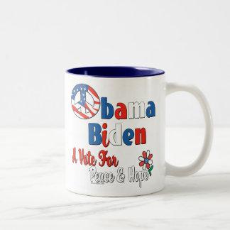 Obama Biden Vote for Peace and Love Mug
