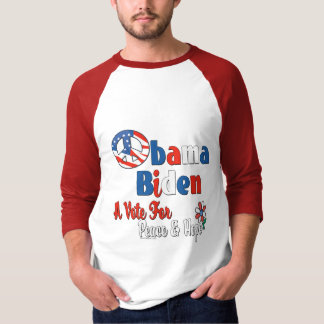 Obama Biden Vote for Peace and Love T-Shirt