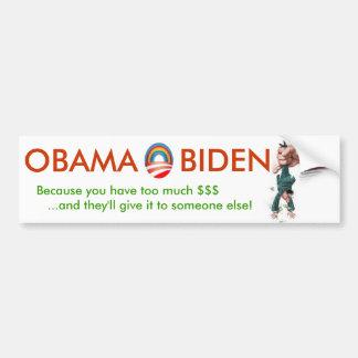 OBAMA &  BIDEN will tax you into submission Car Bumper Sticker