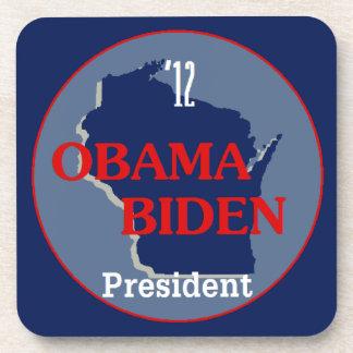 Obama Biden WISCONSIN Coaster