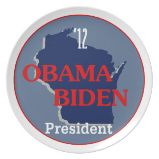 Obama Biden WISCONSIN Platos Para Fiestas
