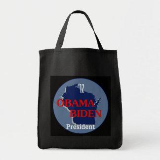 Obama Biden WISCONSIN Tote Bag