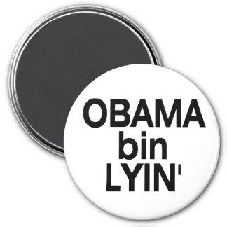 Obama bin Lyin' 3 Inch Round Magnet