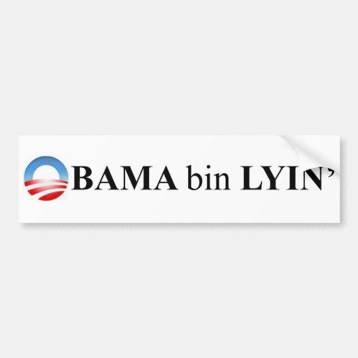 Obama bin lyin bumper stickers