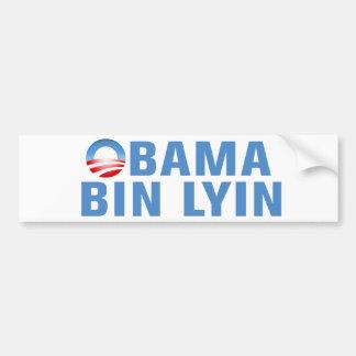Obama Bin Lyin Car Bumper Sticker
