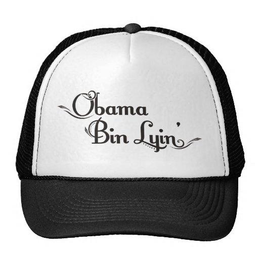 obama bin lyin trucker hat