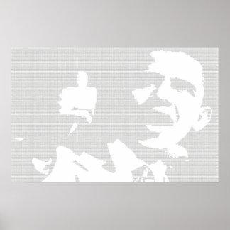 Obama Binary-styled Poster
