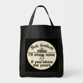 Obama BIRTH CERTIFICATE Bag