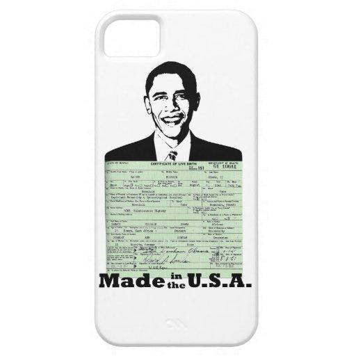 OBAMA BIRTH CERTIFICATE MADE IN THE U.S.A. iPhone 5 COVERS