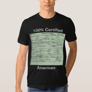 Obama Birth Certificate Tshirt