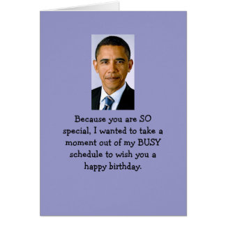 Obama birthday wishes greeting card