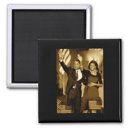 Obama (black background) magnet
