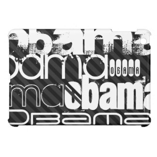 Obama; Black & Dark Gray Stripes iPad Mini Covers