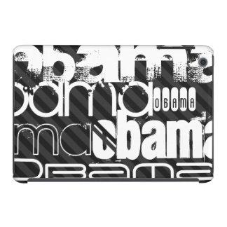 Obama; Black & Dark Gray Stripes iPad Mini Retina Covers