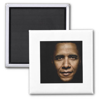 Obama-Black 2 Inch Square Magnet