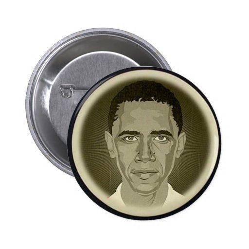 Obama Black & White Button