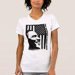Obama blanco y negro camisetas