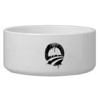 Obama bleeding black Faded.png Dog Bowls