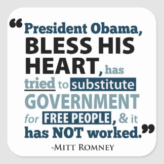 Obama Bless His Heart Romney Quote Sticker