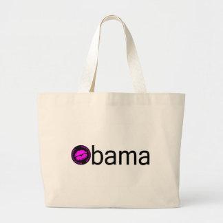 Obama-Blk Kiss) Large Tote Bag