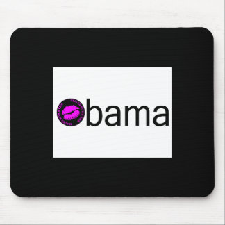 Obama-Blk Kiss) Mouse Pad