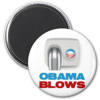Obama Blows 2 Inch Round Magnet