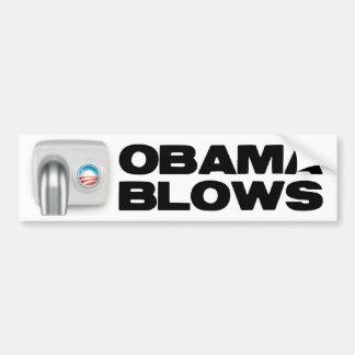 Obama Blows Car Bumper Sticker