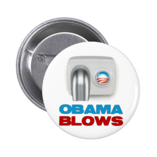 Obama Blows Pinback Buttons