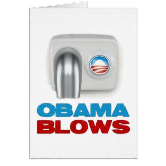 Obama Blows Greeting Card